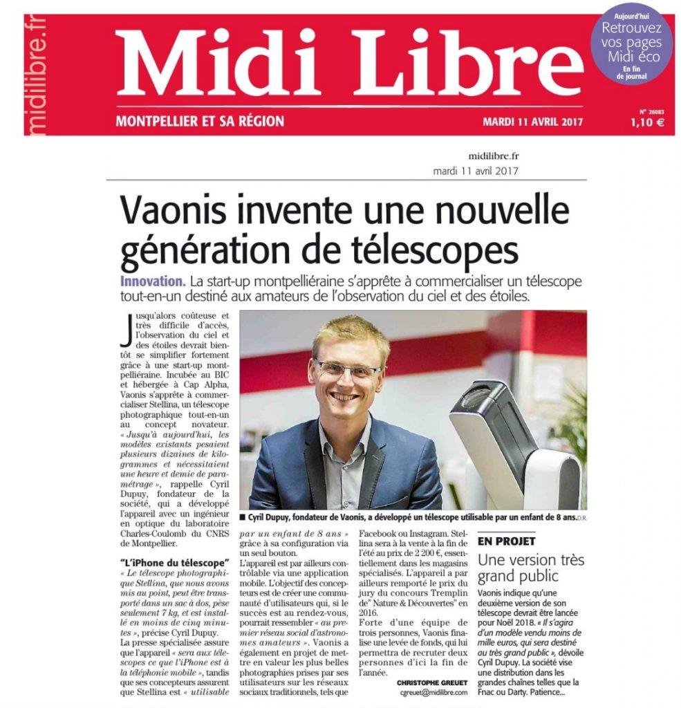 Vaonis x Midi Libre