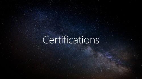 Certification télescope