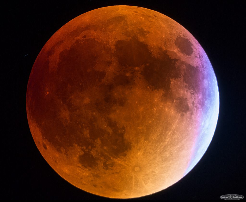 Eclipse de lune couleur
