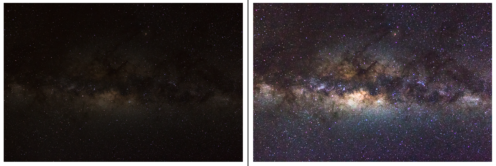 Voie Lactée traitée Astroguigeek