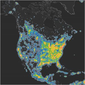 Light pollution in the US