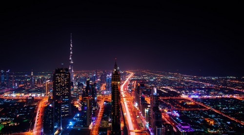 Light pollution Dubai