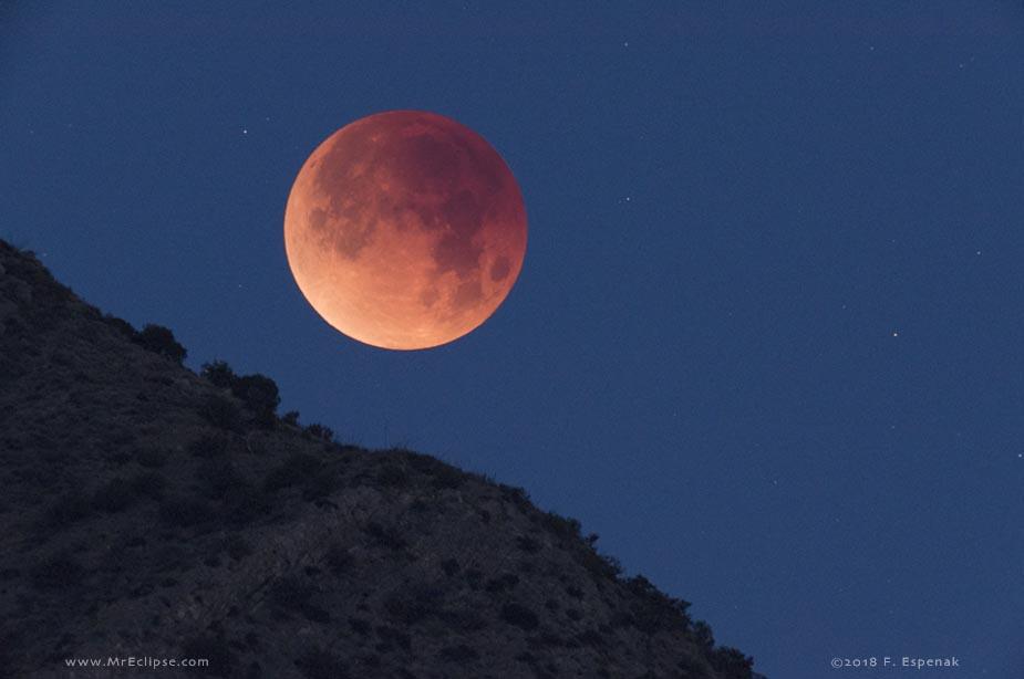 Coucher éclipse de lune