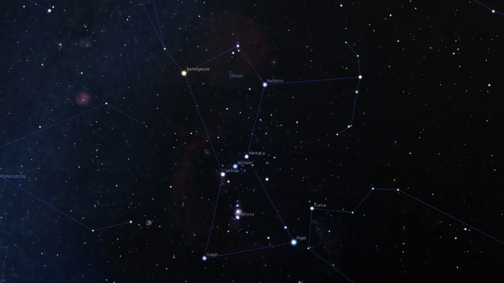 Constellation Orion Betelgeuse