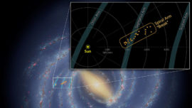 Spitzer Spies Break in Milky Way Arm
